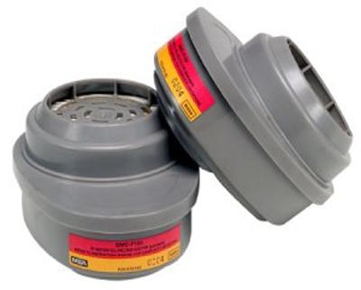 Cartucho MSA GMC P100 para Vapores Organicos y Gases Acidos y Polvos Alta Eficiencia