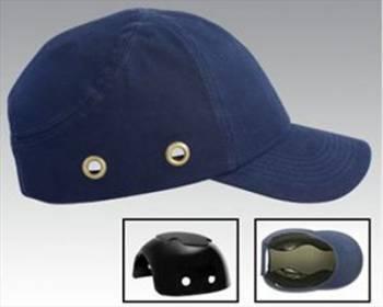 Gorra de Seguridad Textil Azul con casquete plástico Libus
