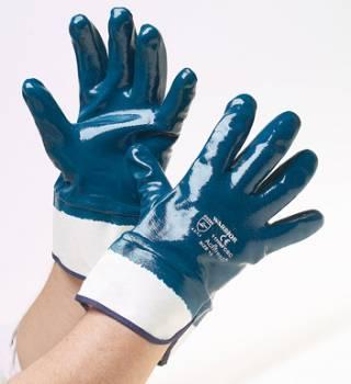 Guante de Nitrilo Azul Puño de Lona