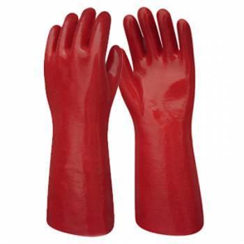 Guante de PVC Rojo 40 cm