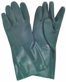 Guante PVC Verde Aspero 35 cm
