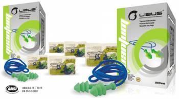 Protector Auditivo Endoaural Libus Quantum Trialeteado con Cordel NRR 22 db