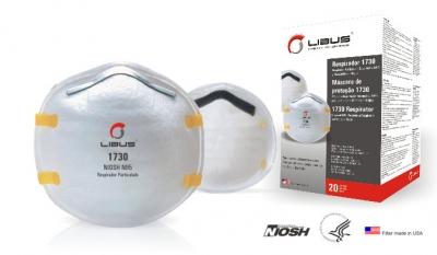 Respirador Libus N95 1730 para Polvos, Humos y Neblinas