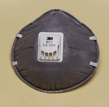 Respirador 3M 8013 P1 Niveles Molestos de Vapores Orgámicos Con Válvula