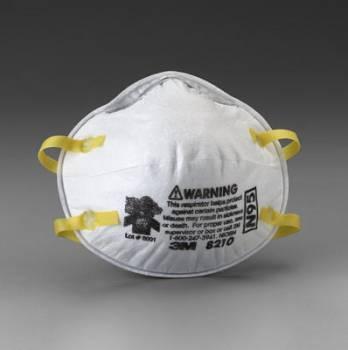 Respirador 3M 8210 N95 para Polvos Humos y Neblinas