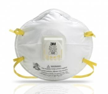Respirador 3M 8210V N95 para Polvos Humos y Neblinas Con Valvula