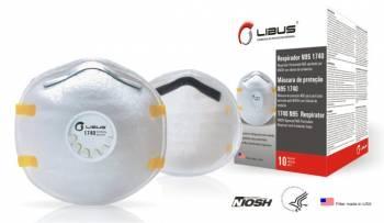 Respirador Libus N95 1740 para Polvos, Humos y Neblinas con Valvula