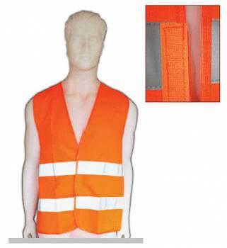 Chaleco Fluo Naranja Con Reflectivo Norma EN 471
