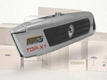 Cutter de Seguridad Retractil Cuerpo Metalico SteelPro Top-X1